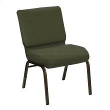 Wellington Avocado Upholstered Church Chair - Gold Vein Frame
