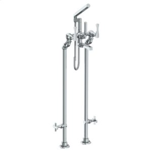 Floor Standing Bath Set With Hand Shower and Shut-off Valves Product Image