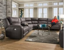 SOUTHERN MOTION 883-05P-06P-92-80-47-84 6-Piece Impact Graphite Power Sectional Sofa