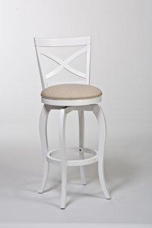 Ellendale Swivel Barstool - White