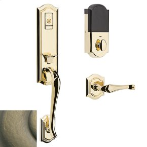 Satin Brass and Black Evolved Bethpage Lever Handleset