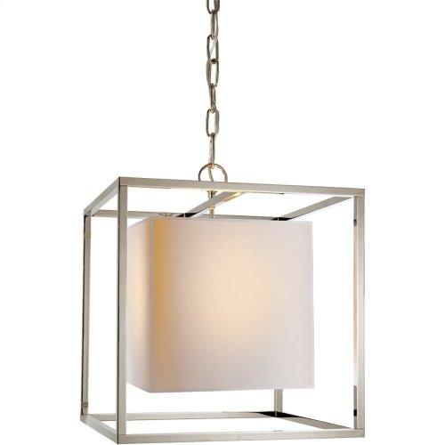 Visual Comfort SC5159PN Eric Cohler Caged 1 Light 16 inch Polished Nickel Foyer Pendant Ceiling Light