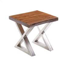 Living On the Edge End Table With Silver Legs