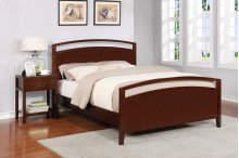 Reisa Bed - Queen, Espresso Brown Finish
