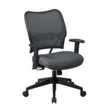 Deluxe Chair With Charcoal Veraflex Back and Veraflex Fabric Seat