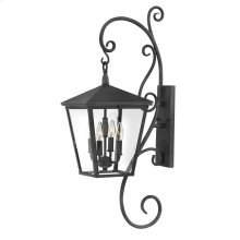 Trellis Large Wall Mount Lantern with Scroll
