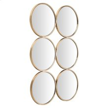 Radeau Wall Mirror  Gold