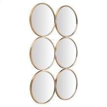 Radeau Wall Mirror  Gold