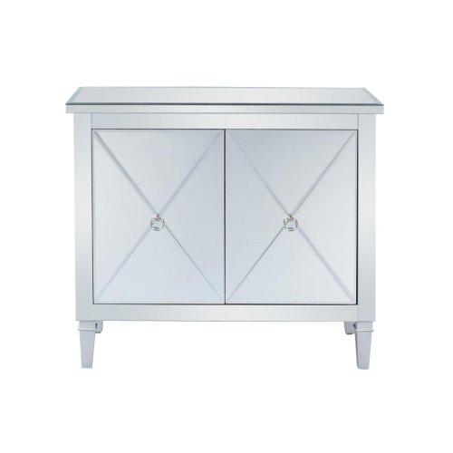 Contemporary Mirrored Accent Cabinet
