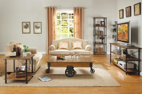 Cocktail Table With Functional Wheels