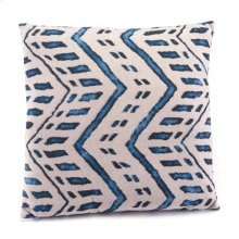 Ikat Pillow 2 Blue & Natural