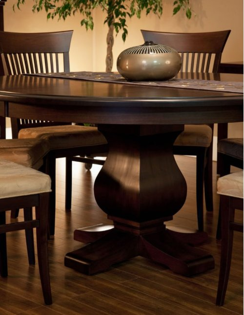 """60"""" Solid Top 5/4 Thick Top Pedestal Table"""