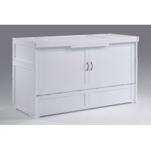 Murphy Cube Cabinet Bed in White Finish