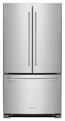 *SCRATCH AND DENT* 25 Cu. Ft. 36-Width Standard Depth French Door Refrigerator with Interior Dispense - Stainless Steel