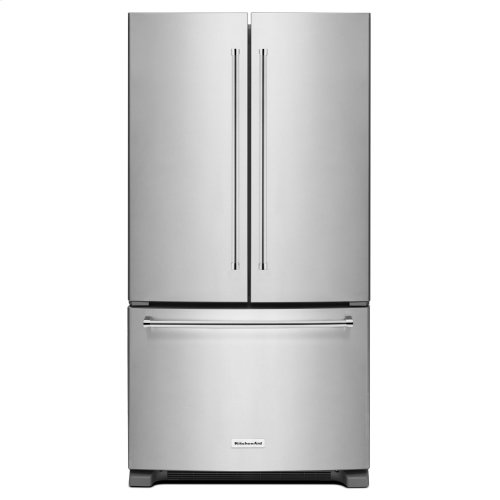 25 Cu. Ft. 36-Width Standard Depth French Door Refrigerator with Interior Dispense - Stainless Steel