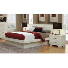 Jessica Contemporary White Eastern Kind Bed