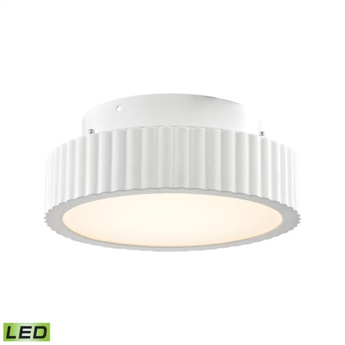 Digby 50-Light Flush Mount in Matte White with Opal White Glass Diffuser - Integrated LED