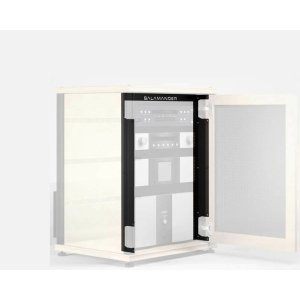 "Salamander Designs15-U Rack Mount Brackets For Synergy 30\"" Cabinet with Doors, Set of 2"