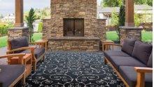 Home & Garden Rs019 Blk Rectangle Rug 10' X 13'