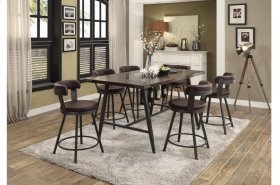 Swivel Counter Height Chair, Brown