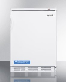Commercial Freestanding Medical All-freezer Capable of -25 C Operation, In White Exterior Finish