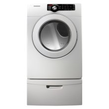 7.3 cu. ft. King-size Capacity Gas Front Load Dryer (White)