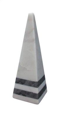 Atum Marble Pyramid Accent