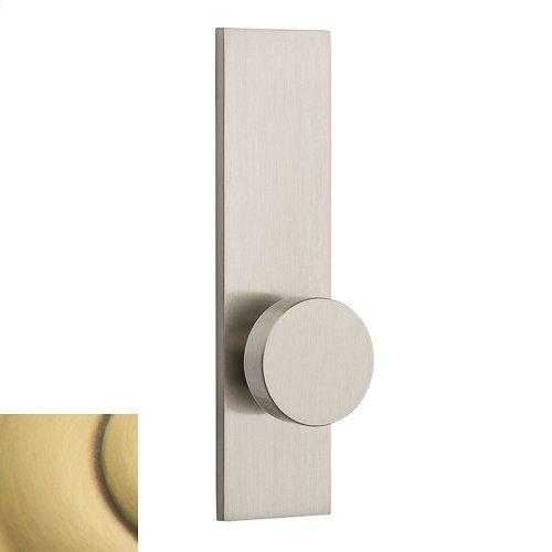 Satin Brass and Brown Contemporary K010 Knob Screen Door