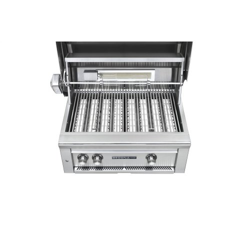 """30"""" Sedona by Lynx Built In Grill with 2 Stainless Steel Burners and Rotisserie, LP"""