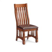 MaRyan Side Chair, Leather Cushion Seat