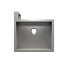 "SocialCorner® 005300 - undermount with apron front stainless steel Kitchen sink , 23"" × 18"" × 10"" Left corner"