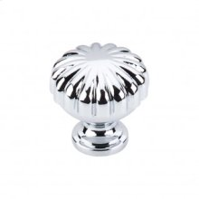 Melon Knob 1 1/4 Inch - Polished Chrome