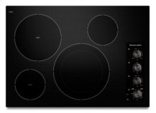 "30"" Electric Cooktop with 4 Radiant Elements - Black"