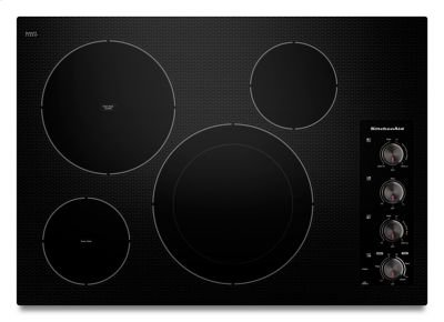 "30"" Electric Cooktop with 4 Radiant Elements - Black Product Image"