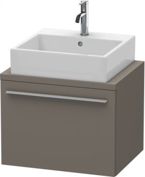 X-large Vanity Unit For Console Compact, Flannel Grey Satin Matt Lacquer