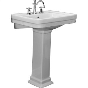 Sussex 550 Pedestal Lavatory - White - White Product Image