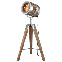 Picfair Table Lamp In Natural Wood and Metal Product Image