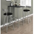 "BARSTOOL - 2PCS / 43""H / SWIVEL / SILVER METAL Product Image"