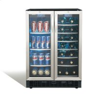 "Emmental 24"" French door beverage center."