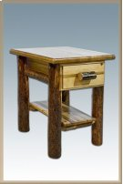 Glacier Country Log Nightstand with Drawer Product Image