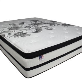 "Queen-Size Brylee 14"" Euro Pillow Top Mattress (non-flip)"