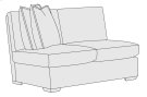 Orlando Armless Loveseat in Mocha (751) Product Image