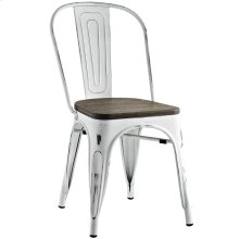 Promenade Bamboo Steel Dining Side Chair in White