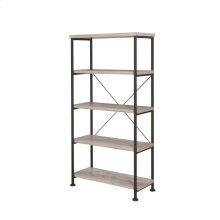 Guthrie Industrial Grey Driftwood Bookcase