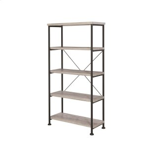 CoasterGuthrie Industrial Grey Driftwood Bookcase