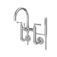 Polished Chrome Tisbury Wall Mounted Tub Filler