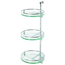 Essentials Three Tier Wall Mounted Glass Swivel Shelf Unit