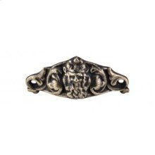 Neptune Cup Pull 3 11/16 Inch (c-c) - Dark Antique Brass