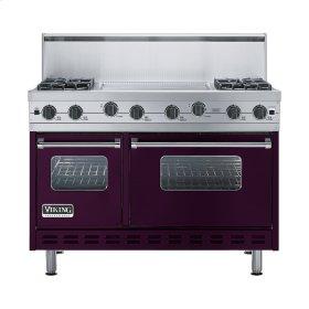 """Plum 48"""" Sealed Burner Range - VGIC (48"""" wide, four burners 24"""" wide griddle/simmer plate)"""