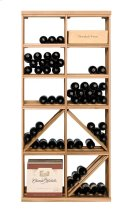 Apex 6' Bottle & Case Diamond Bin Combo Modular Wine Rack Product Image